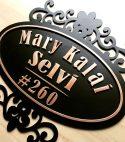 Black Matte Metal House Number Plate