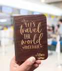 Wooden Passport Cover