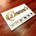 White Acrylic Mirror Designer Name Plate – Personalised Home Decor Gifts Online