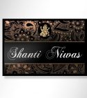 Shanti Niwas Metal Printed Name Plate – Personalised Home Decor Gifts Online