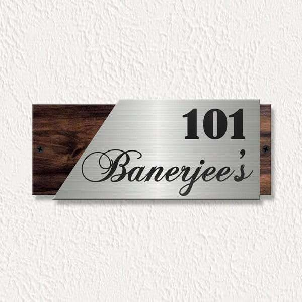 Classic Engraved Name Plate – Personalised Home Decor Gifts Online