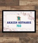 Floral Name Plate – Marble Printed – Personalised Home Decor Gifts Online