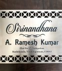 SS 304 Engraved & Lasercut Name Plate
